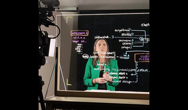 Pizarra de luz o LightBoard para grabaciones de cursos online